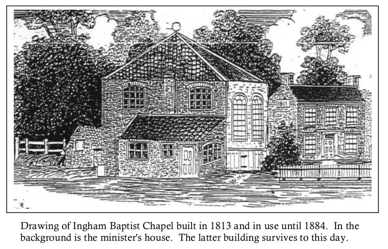 The Church building at Ingham 1813
